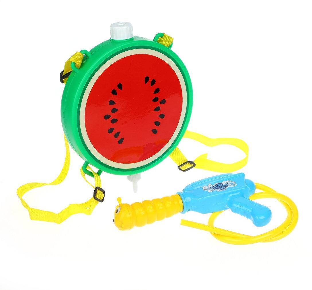 Водяное оружие игрушечное Наша Игрушка с рюкзаком Арбуз F-S4