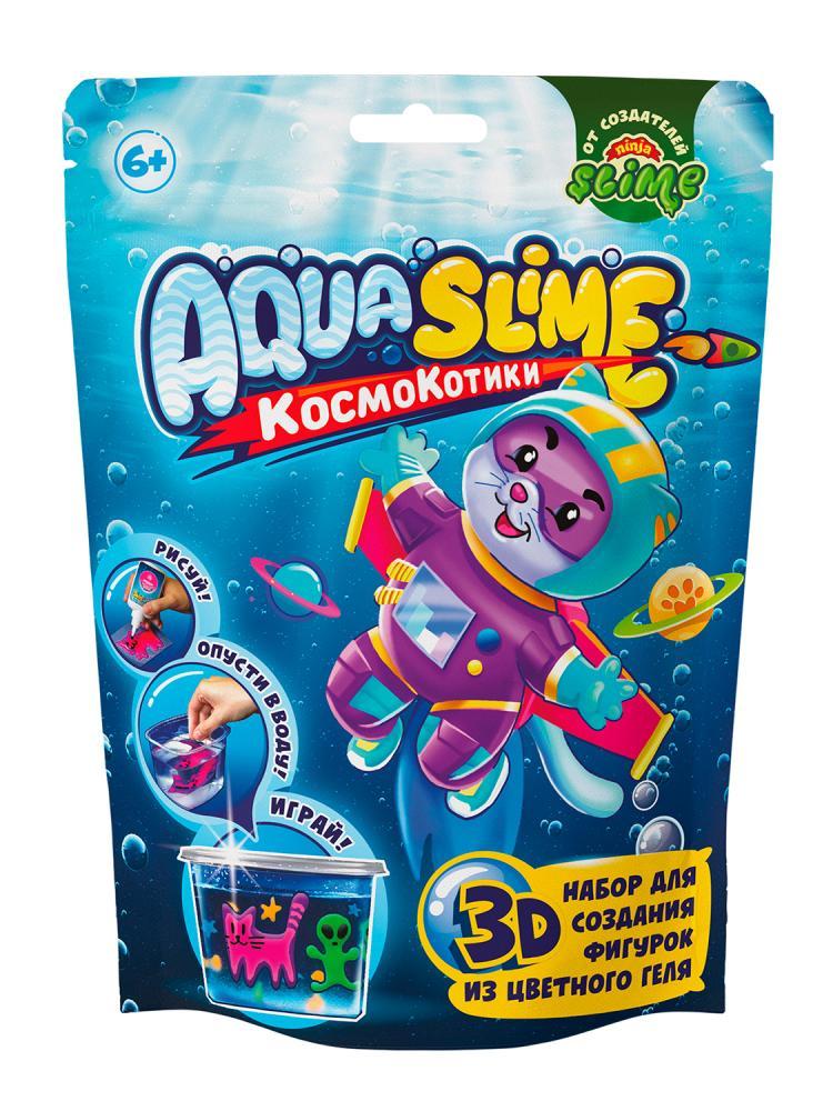 Купить Набор для слайма Slime Aqua, КосмоКотитки, малый AQ003,