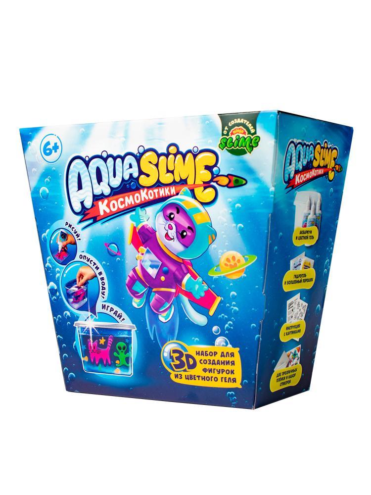 Купить Набор для слайма Slime Aqua, КосмоКотитки, средний AQ001,