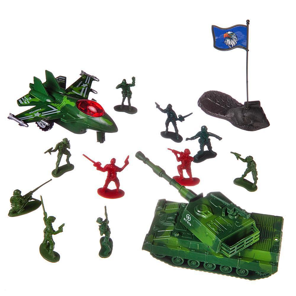 Купить Боевая сила , Танк и истребитель с аксессуарами , в пакете, Игровой набор ABtoys Боевая сила, Танк и истребитель с аксессуарами, PT-01441,