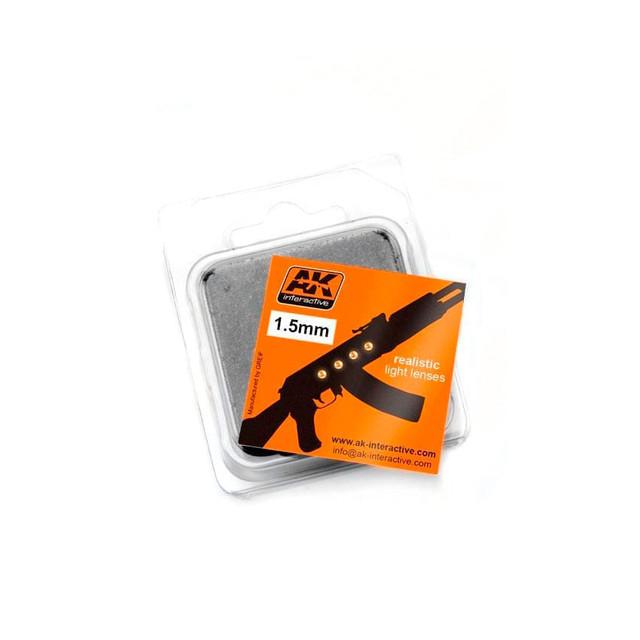 Купить Линзы прозрачные AK Interactive желтые AMBER 1.5 мм AK-205,