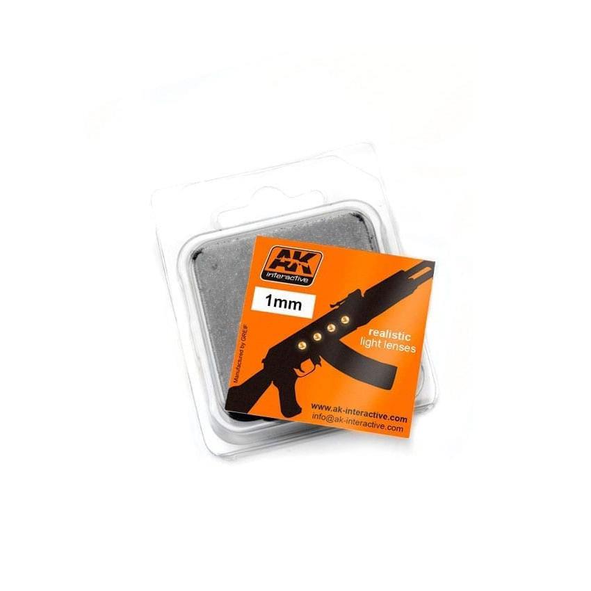 Купить Линзы прозрачные AK Interactive желтые AMBER 1 мм AK-202,