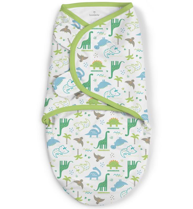 Купить 57406, Summer Infant Конверт на липучке Swaddleme (динозавры), размер S/M,