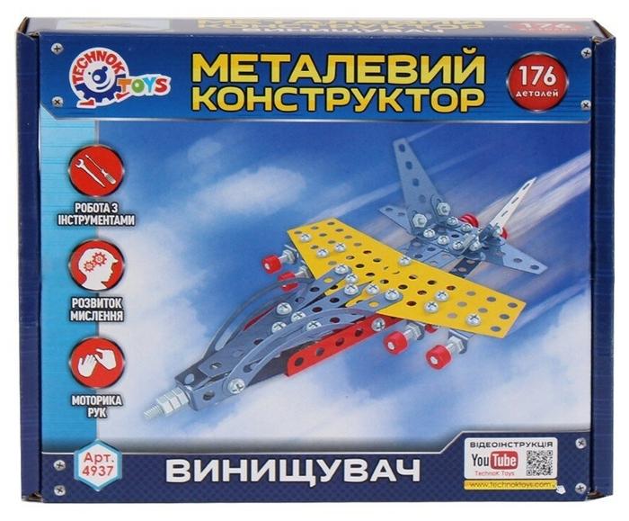 Купить Конструктор металлический Истребитель Технок, ТехноК,