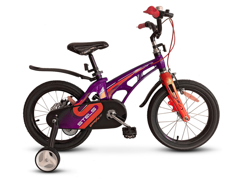 Велосипед Stels Galaxy 18 V010 (2021) фиолетовый/красный LU088564