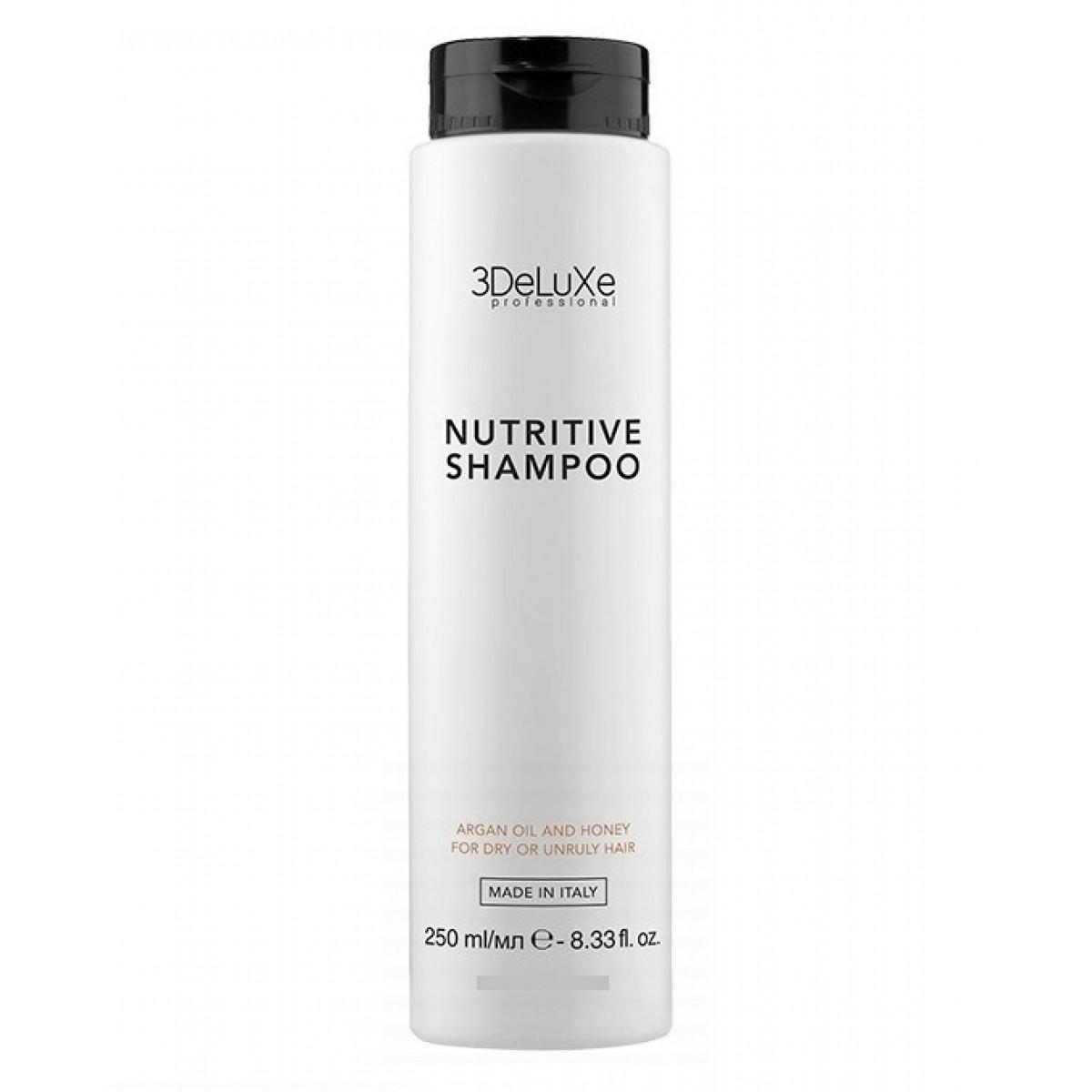 Купить Шампунь 3DELUXE Professional, для сухих и поврежденных волос Shampoo Nutritive, 250 мл