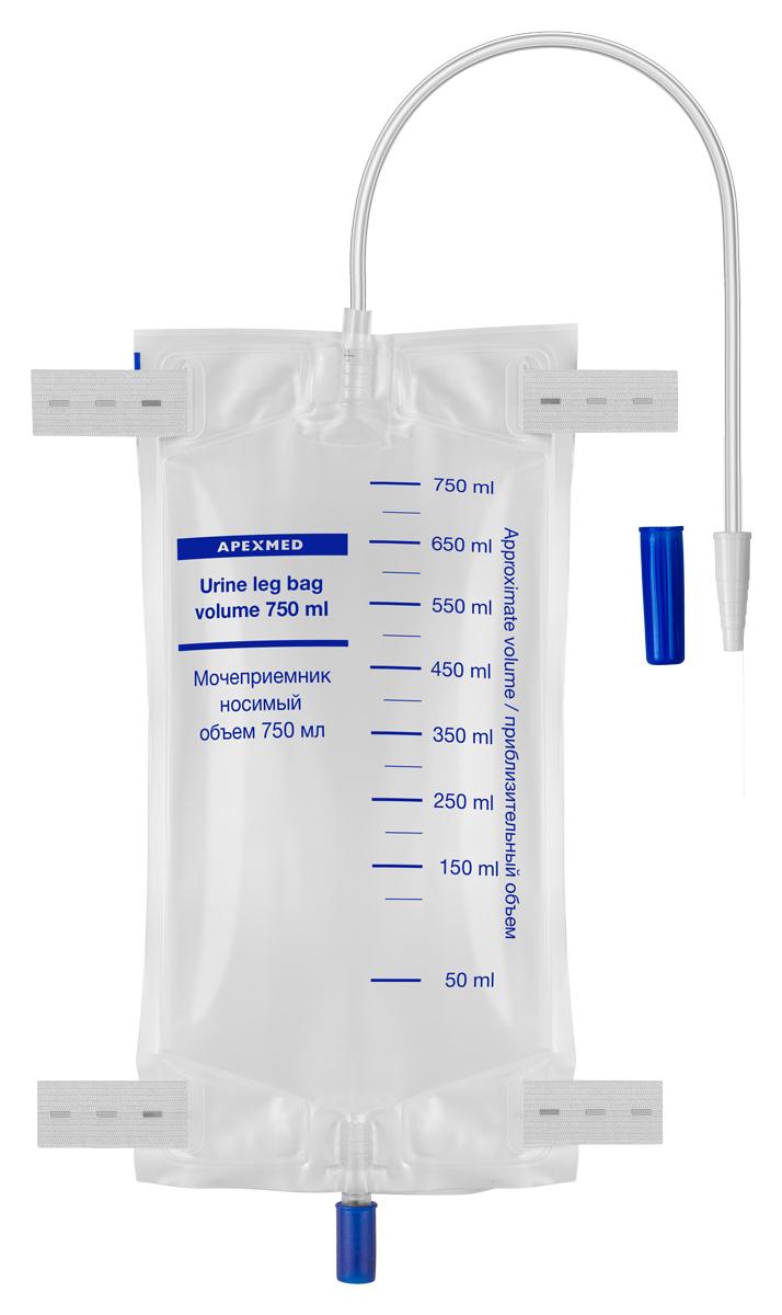 Купить Мочеприемник носимый, 750 мл, 28 см, Apexmed, Мочеприемник носимый Apexmed 750 мл 28 см