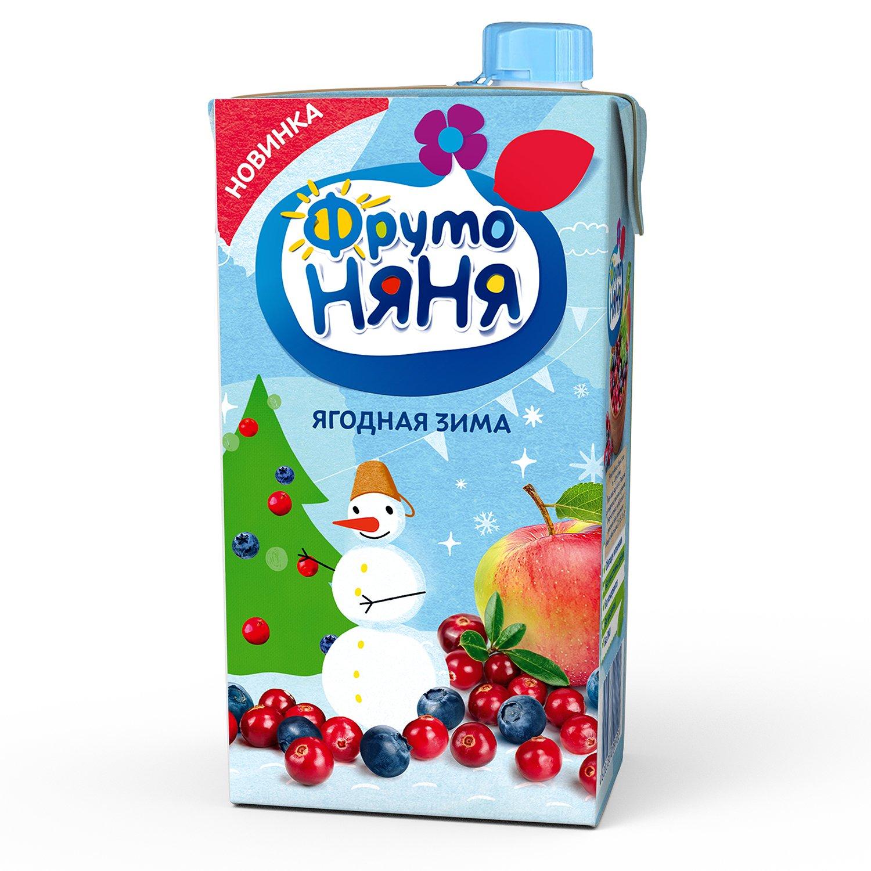 ФрутоНяня Сок Ягодная зима (яблоко черника клюква