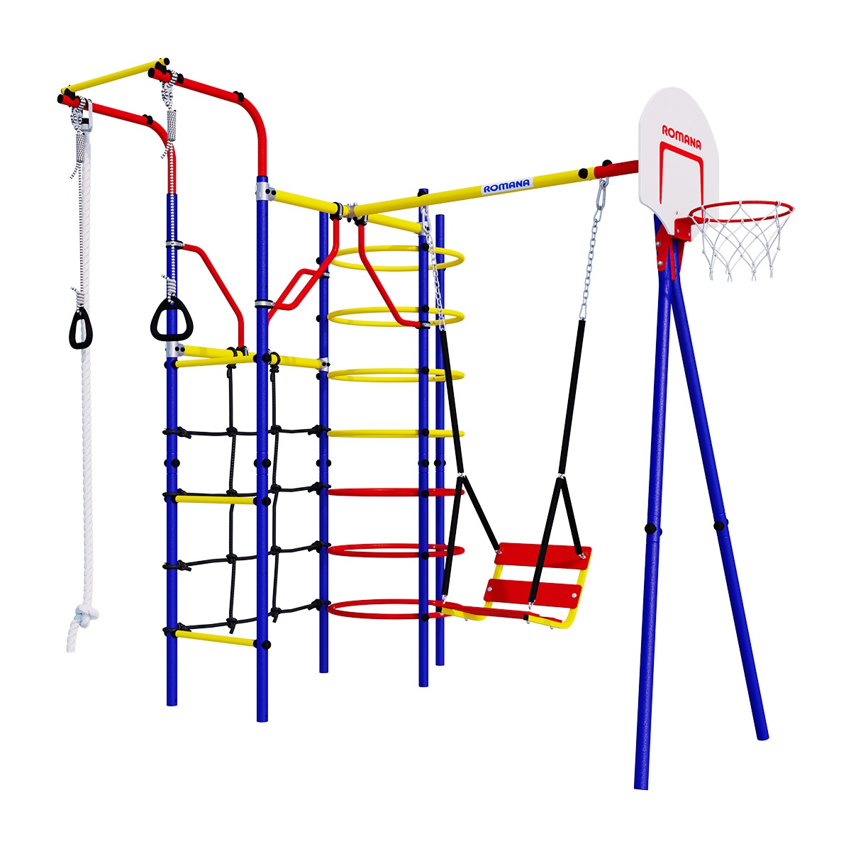 Комплекс спортивный детский Romana Космодром, + цепные качели
