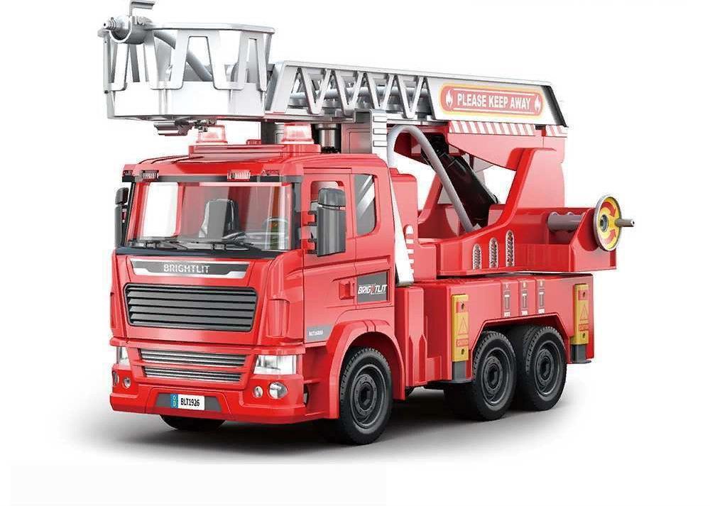 Купить Собери сам, Пожарная машина , 105 деталей, звук, свет, Игровой набор Junfa Собери сам, Пожарная машина, свет 1926, Junfa toys,