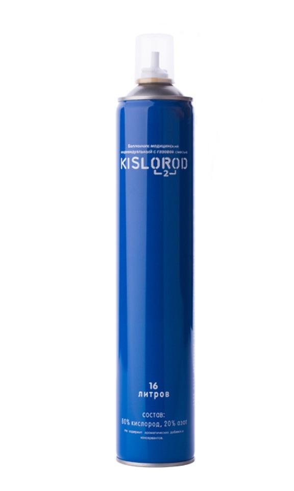 Купить Кислородный баллончик/ медицинский индивидуальный с газовой смесью KISLOROD К16L, KISLOROD prana
