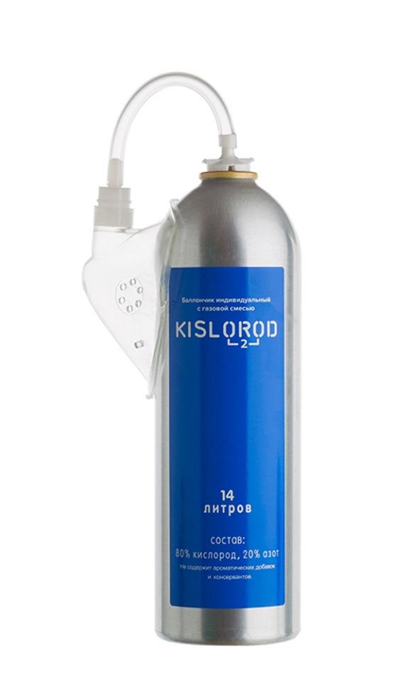 Кислородный баллончик/ индивидуальный с газовой смесью KISLOROD K14L-М (с маской), KISLOROD prana  - купить со скидкой