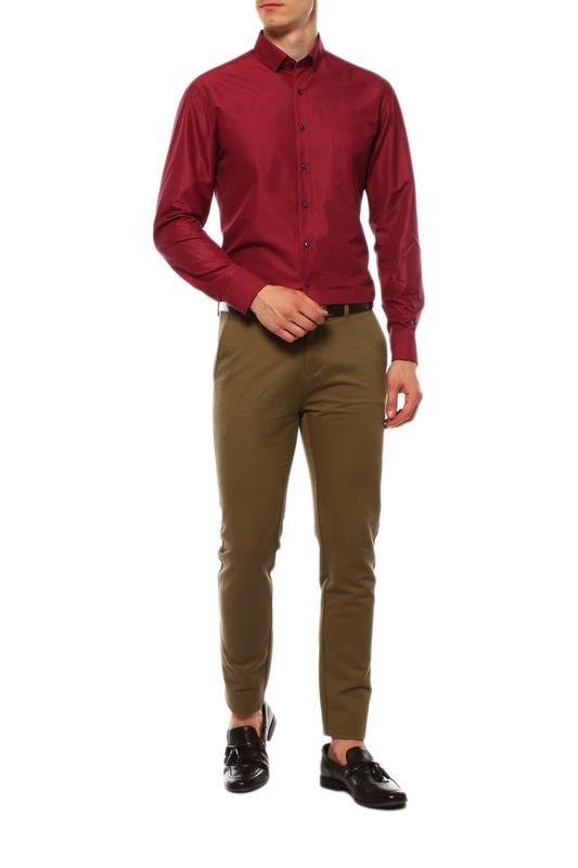 Рубашка мужская VAN CLIFF EXCLUSIVE 1594 красная 42-176