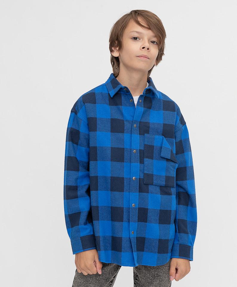 Рубашка Button Blue 221BBBJC23013702 цв. синий р. 140