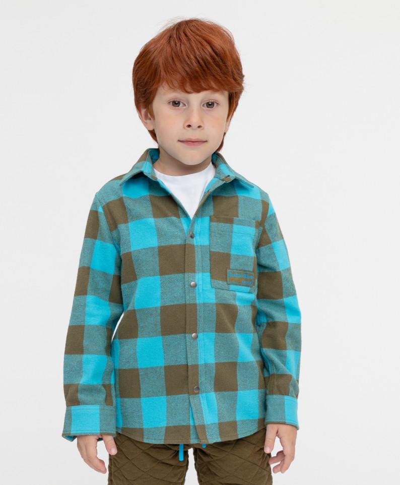 Рубашка Button Blue 221BBBMC23011802 цв. голубой р. 122