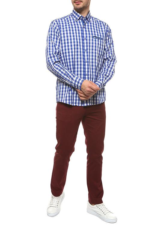 Рубашка мужская FAYZOFF-SA 1265-62 синяя L-41-42