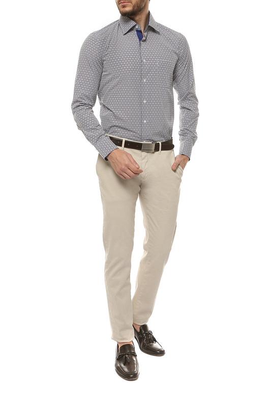 Рубашка мужская FAYZOFF-SA 1259S-37 коричневая L-41-42