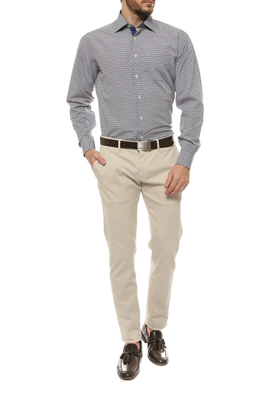 Рубашка мужская FAYZOFF-SA 1259-37 коричневая M-39-40