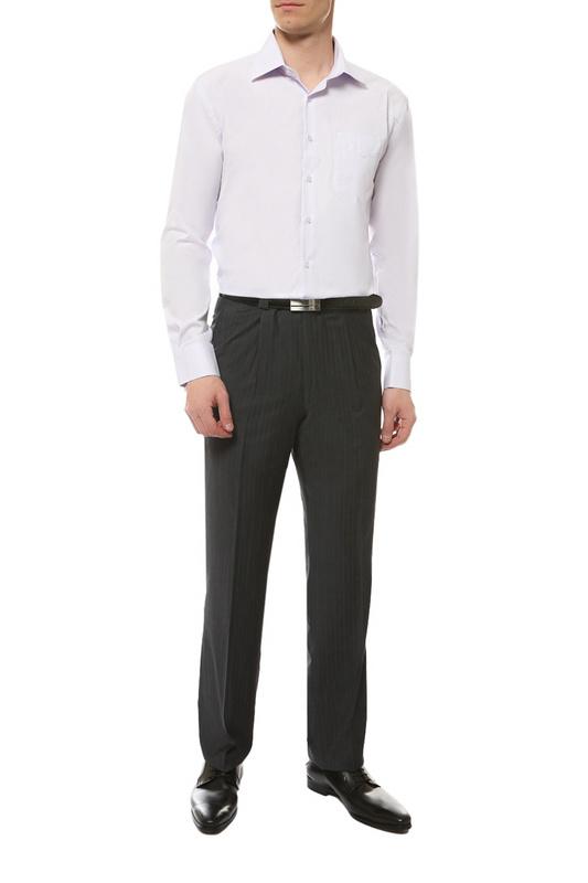 Рубашка мужская FAYZOFF-SA 1253S фиолетовая XL-43-44