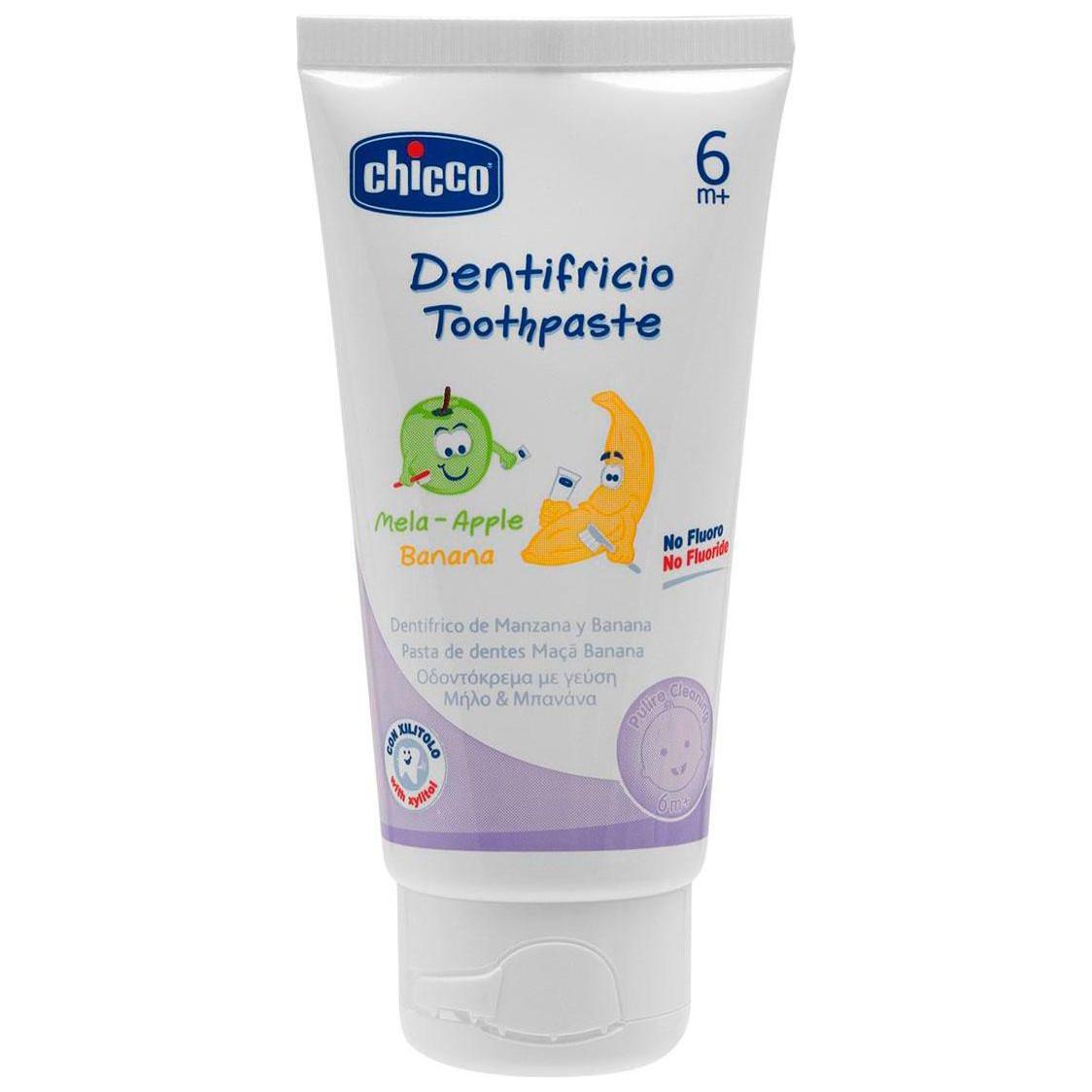 Детская зубная паста Chicco Зубная Паста С 6 Мес, Яблоко-Банан 50 Мл фото