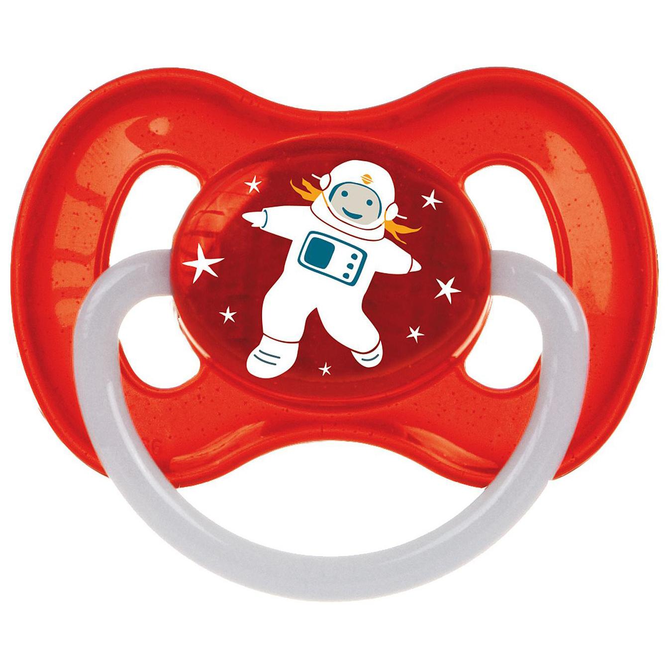 Пустышка латексная Canpol Babies Space 6-18 мес 23/222/Красный