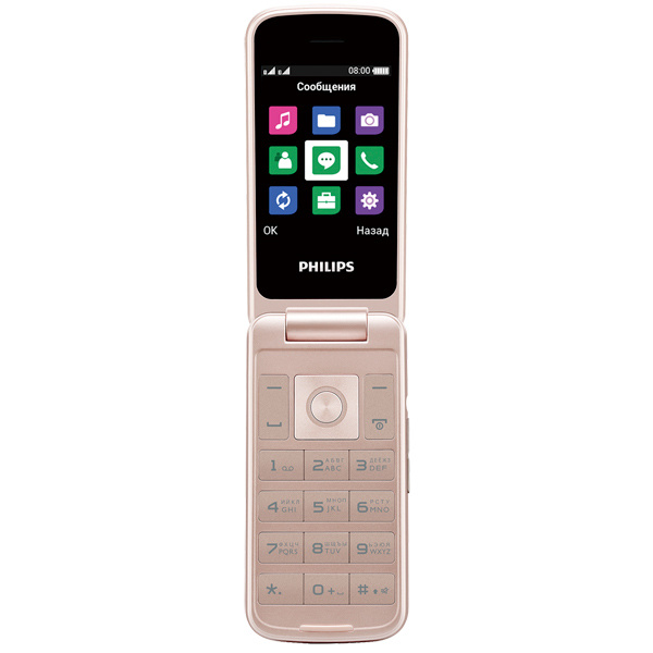 Мобильный телефон Philips Xenium E255 White