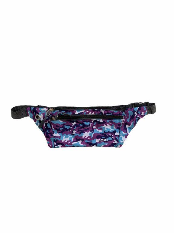 Спортивная сумка Tiko 1807 мелкий камуфляж фиолетовая