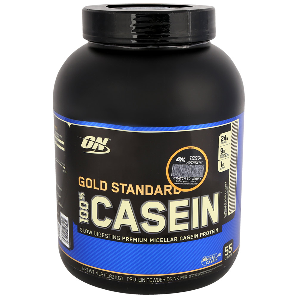 Протеин Optimum Nutrition 100% Casein Protein 1800 г, Печенье со Сливками фото