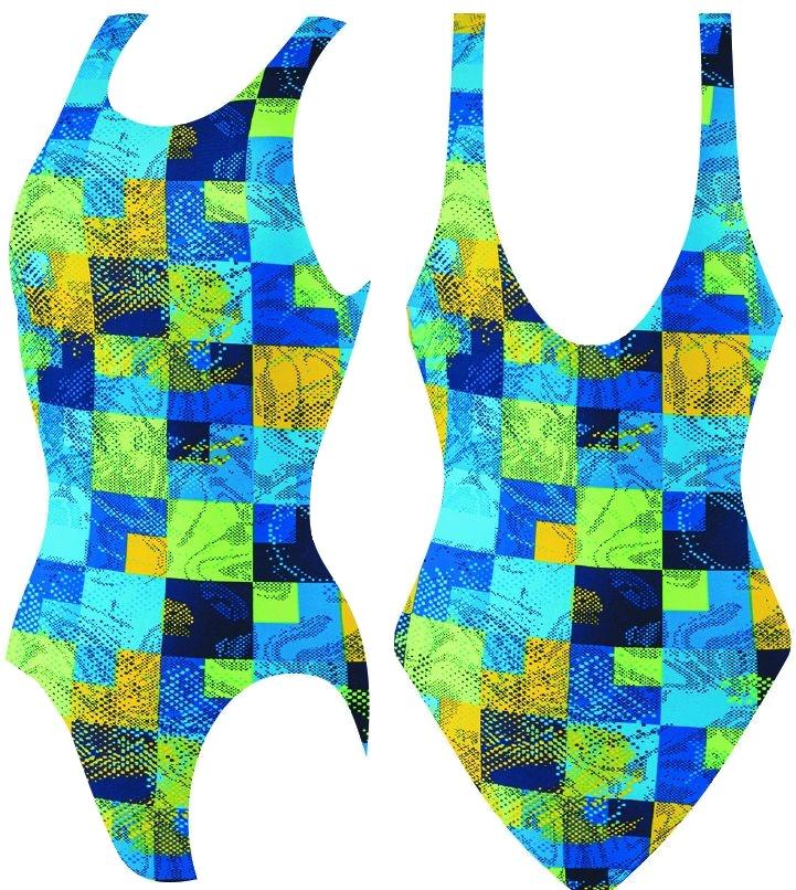 Слитный купальник Atemi, цв.разноцветный р.146