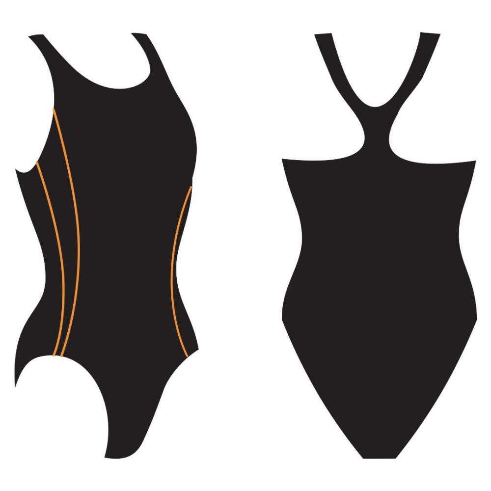 Слитный купальник Atemi, цв.черный р.134