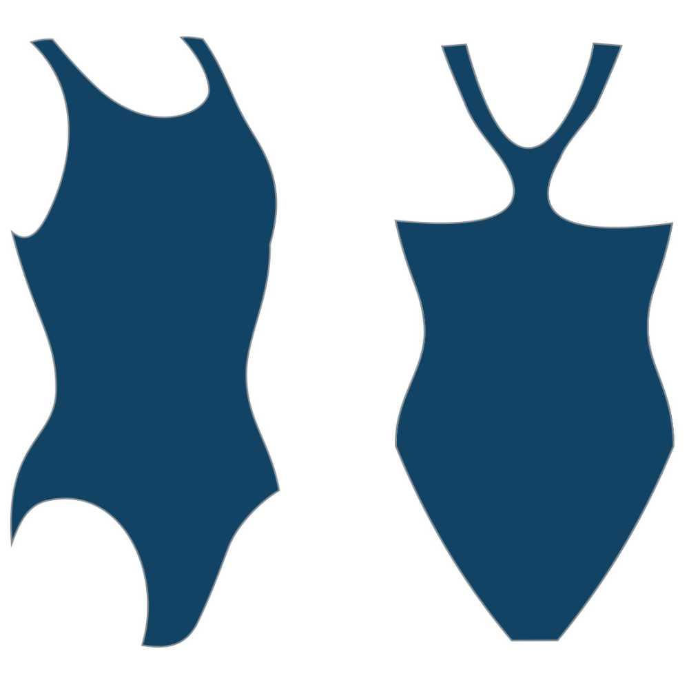 Слитный купальник Atemi, цв.синий р.158