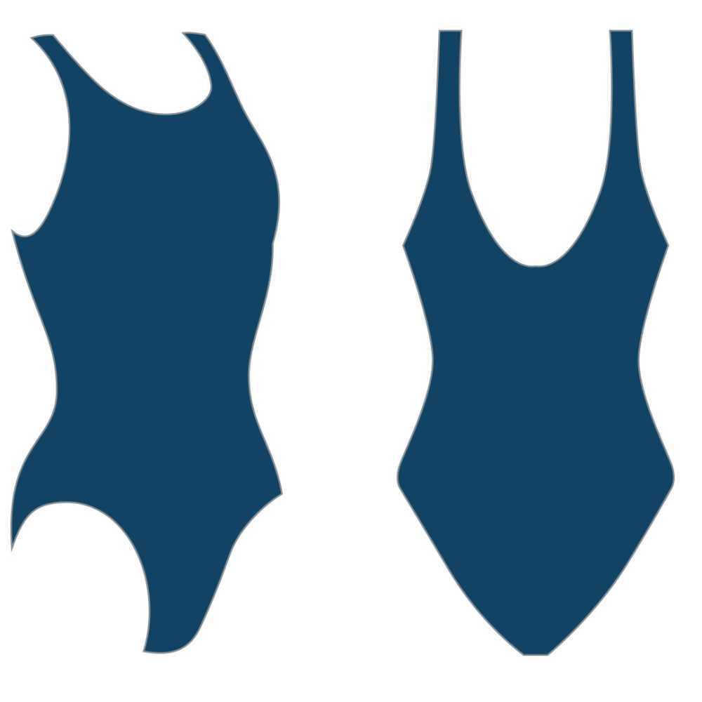 Слитный купальник Atemi, цв.синий р.146