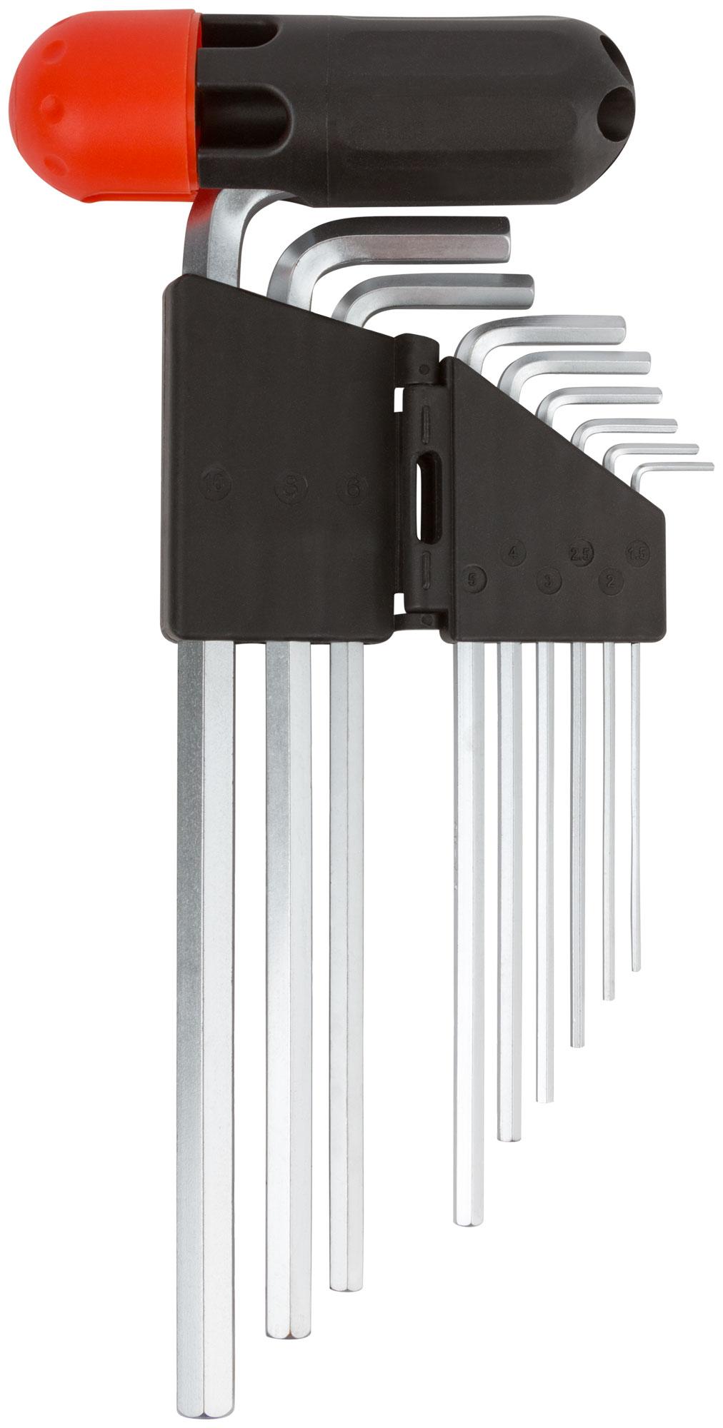 Ключи шестигранные длинные 1,5-10 мм, 9 шт. FIT 64197 фото