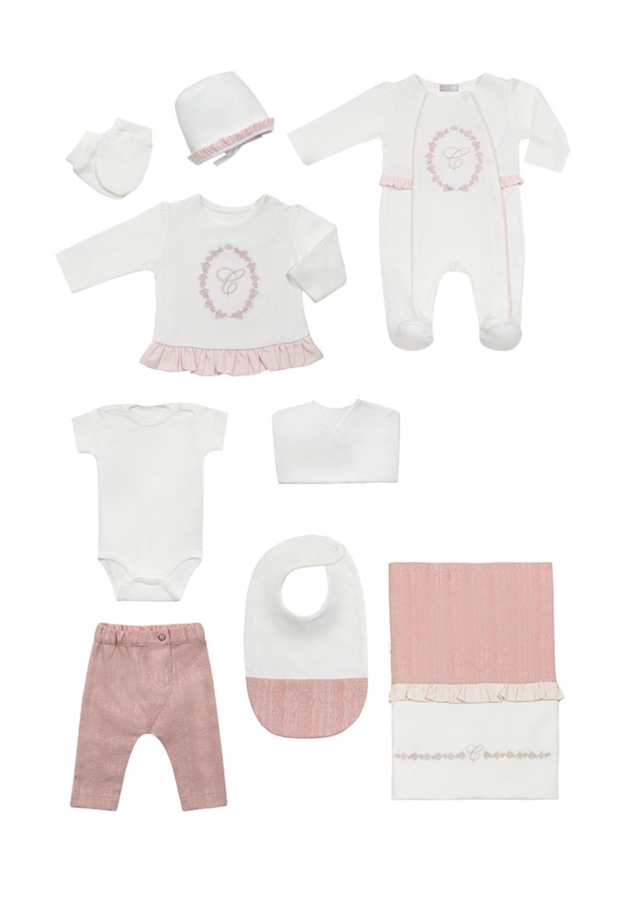 Комплект одежды для новорожденного RBC МЛ 427307 бело-розовый р.onesize