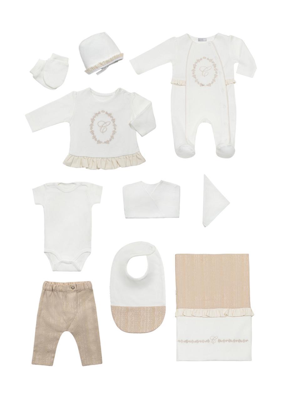 Комплект одежды для новорожденного RBC МЛ 427307 бело-бежевый р.onesize