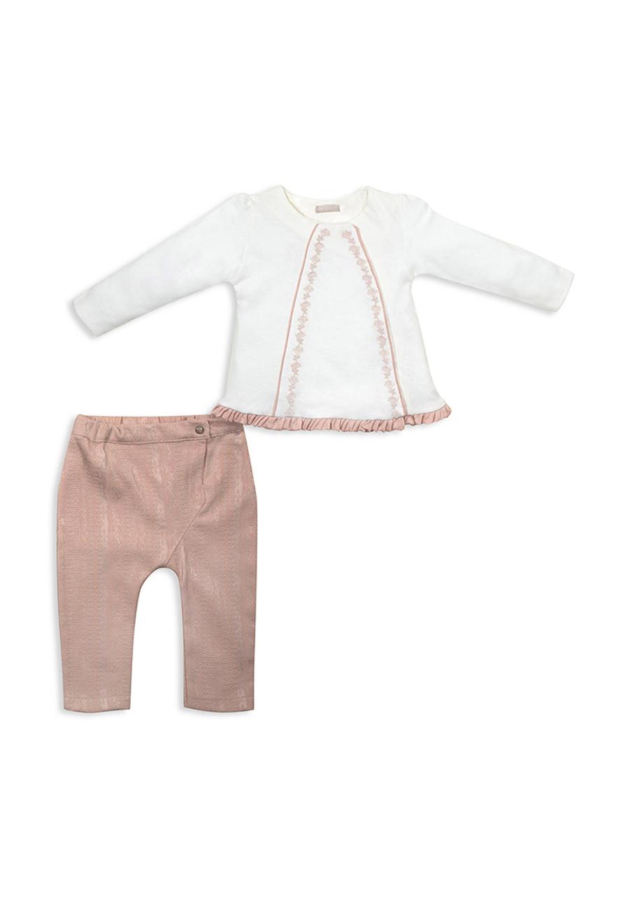 Комплект одежды RBC, цв. бежевый; розовый р.80