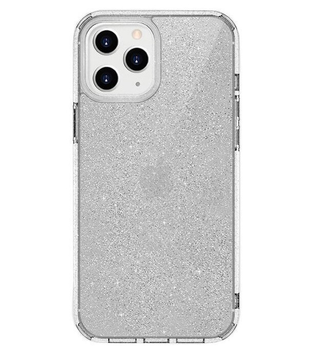 Чехол Uniq LifePro Tinsel Anti-microbial iPhone 12/12 Pro Прозрачный