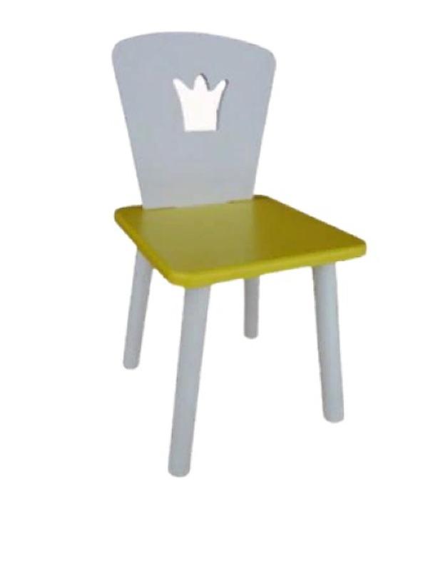 Стул детский Маленькая Страна Корона Желтый