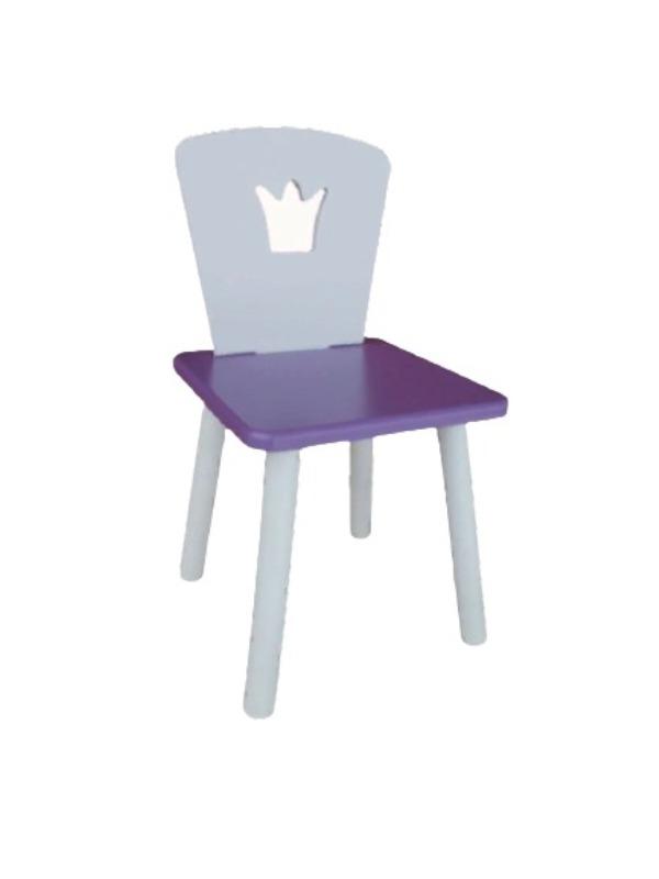 Стул детский Маленькая Страна Корона фиолетовый