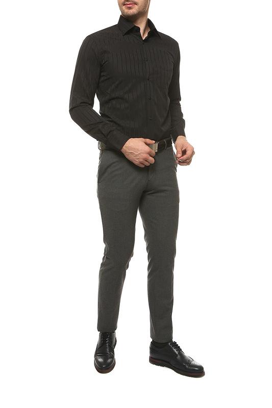 Рубашка мужская FAYZOFF-SA 1237S-72 черная M-39-40