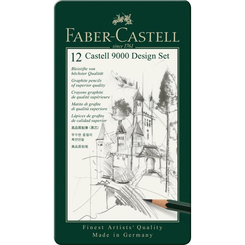 "Карандаши чернографитные ""Castell 9000"", 12 штук Faber-Castell"