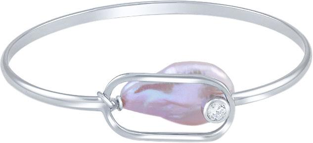 Браслет из серебра с искусственным жемчугом/фианитом р.16 Silver Wings 24BR0084-204