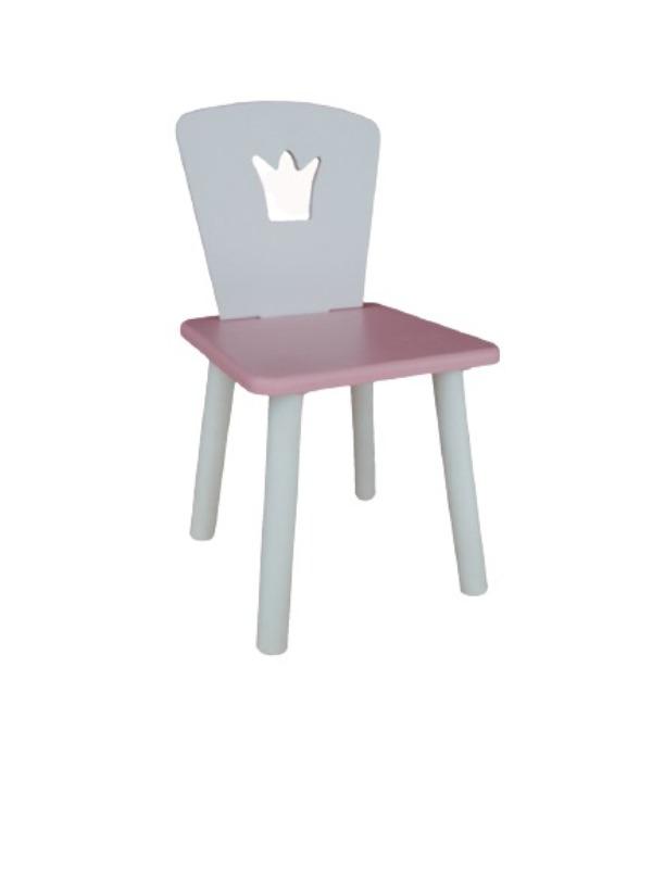 Стул Маленькая Страна корона розовый