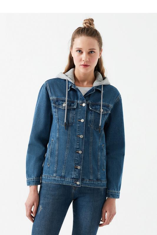 Джинсовая куртка женская Mavi 110154-29899 синяя XS