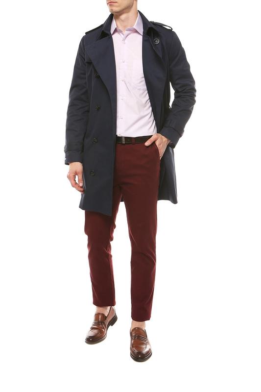 Рубашка мужская FAYZOFF-SA 1020S фиолетовая XL(43-44)