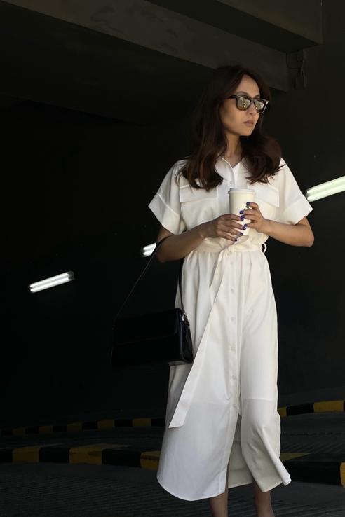 Платье женское Emka PL1162/lima белое 50