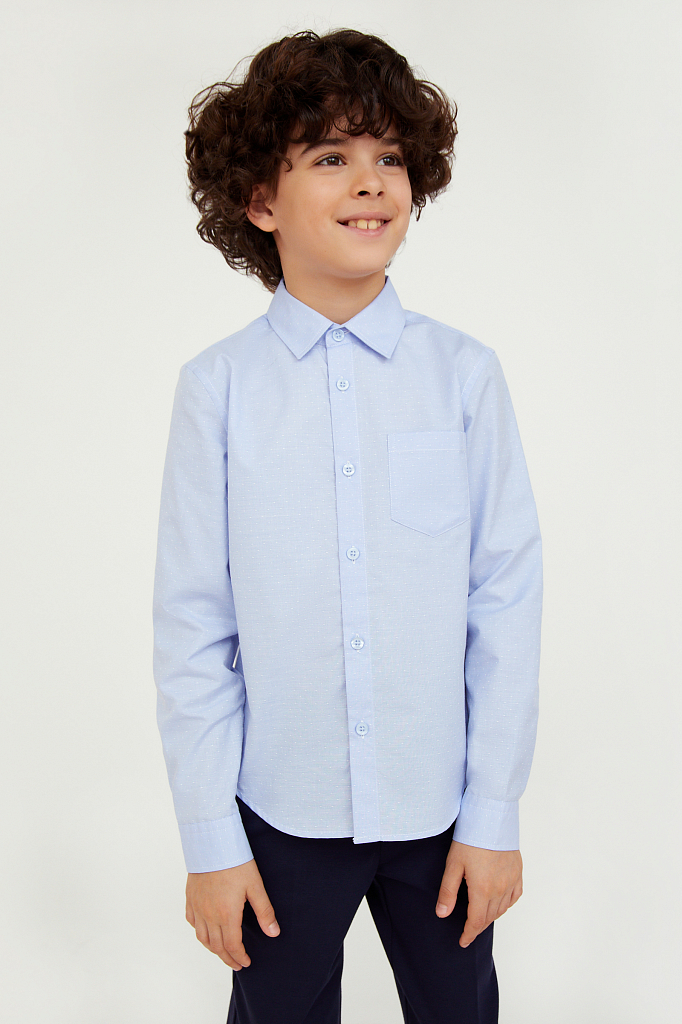 Купить KA20-86001, Рубашка для мальчиков Finn-Flare цв. синий р-р. 140, Finn Flare,