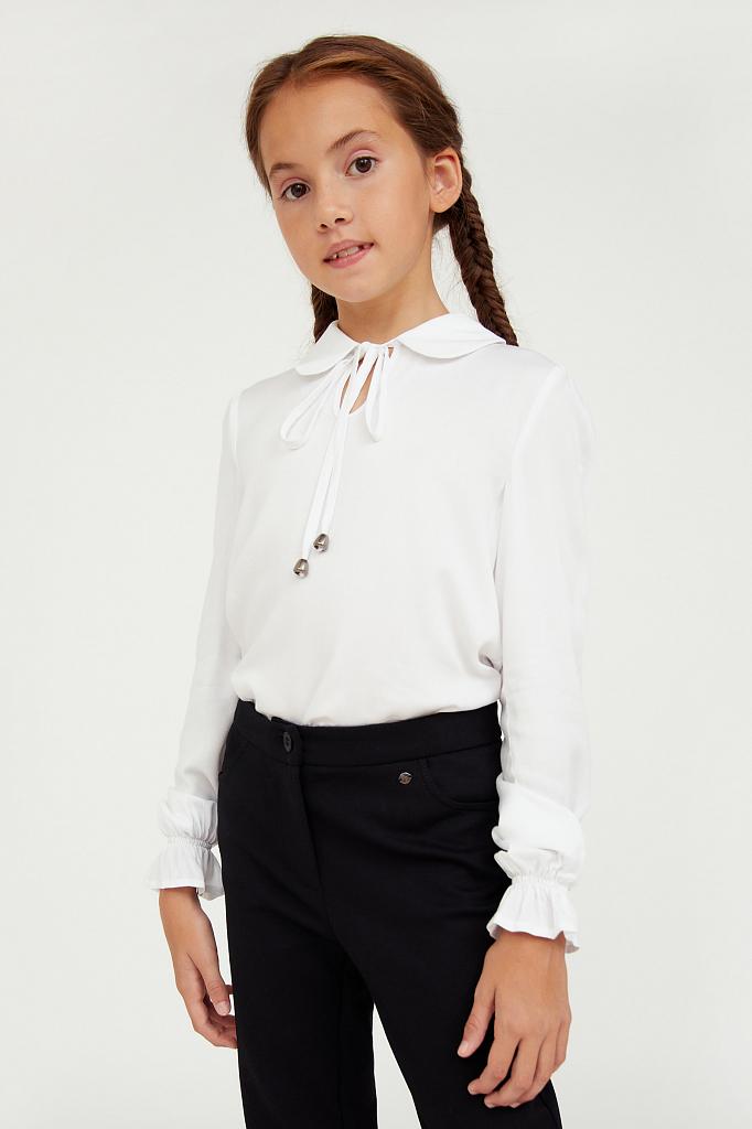 Купить KA20-76001, Блузка для девочек Finn-Flare цв. белый р-р. 140, Finn Flare,