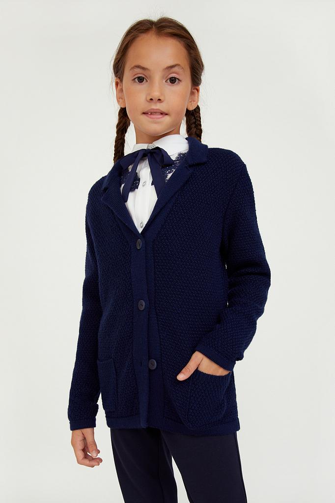 Купить KA20-76101, Жакет для девочек Finn-Flare цв. синий р-р. 140, Finn Flare,