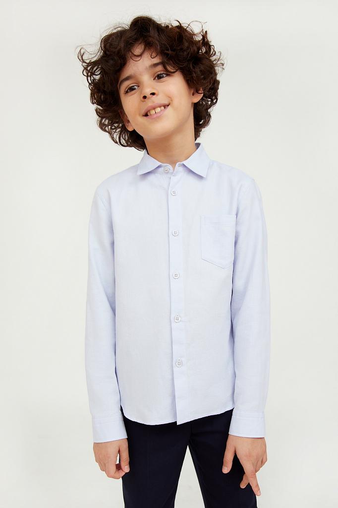 KA20-86000, Рубашка для мальчиков Finn-Flare цв. голубой р-р. 134, Finn Flare,  - купить со скидкой